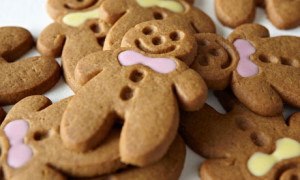 Close up of gingerbread men